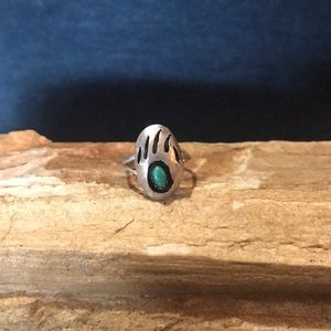 Native American Bear Paw Ring in Sterling Silver